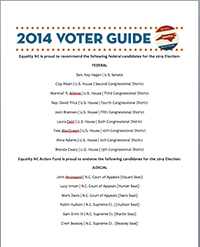 Equality NC Action Fund Voter Guide 2014