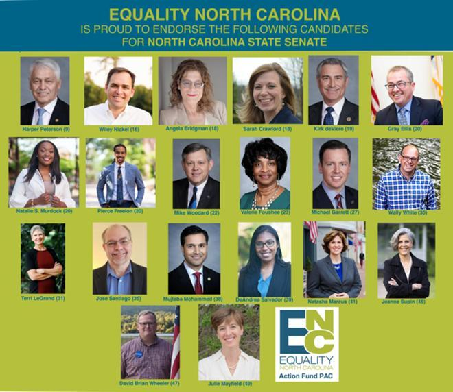 Equality North Carolina Releases  Final Slate Of Pre-Primary Endorsements