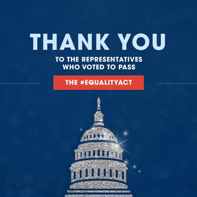 The Equality Act just passed the House -- now it's time to act!