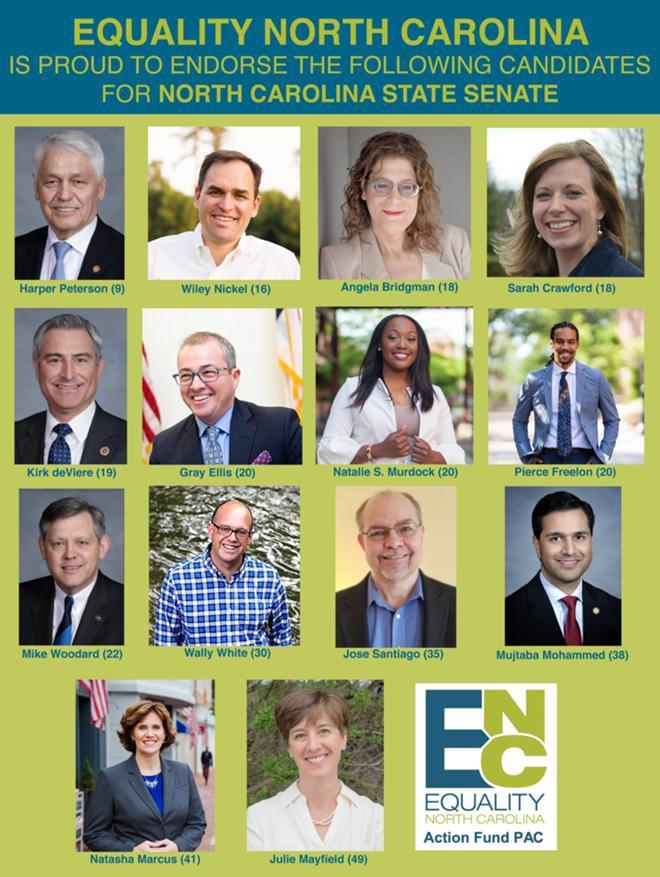 Equality North Carolina Releases  First Round Of 2020 Endorsements